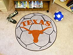 "Texas Longhorns 29"" Round Soccer Ball Floor Mat (Rug)"
