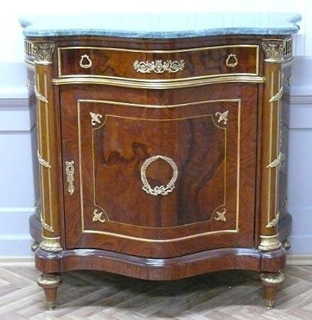 Barock Anrichte Antik Stil Kommode grune Marmorplatten Barock Antik Stil LouisXV MoMo0402