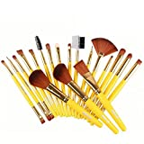 EYX Formula 19 Pcs Professional Makeup Brush Set Premium Synthetic Makeup Tool, Foundation Brush with Blush Foundationn Shedding for Cosmetic