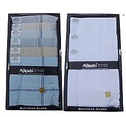 Mikado 100% Cotton Handkerchiefs Combo of 2 boxs for Men (20 pcs)