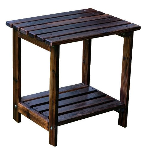 Shine Company Rectangular Patio Side Table, Small, Burnt Brown (Small Patio Side Table compare prices)