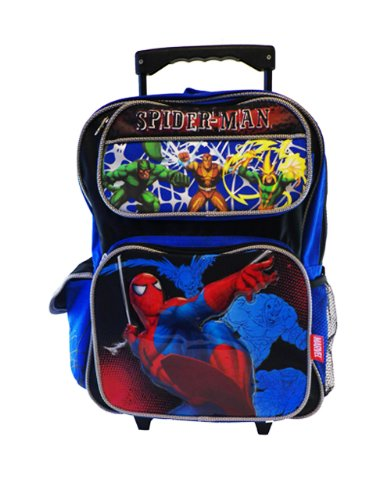 SpiderMan Rolling BackPack Spider School