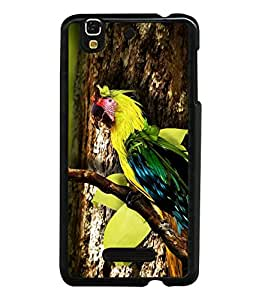 printtech Wild Colorful Parrot Tree Back Case Cover for YU Yureka Plus