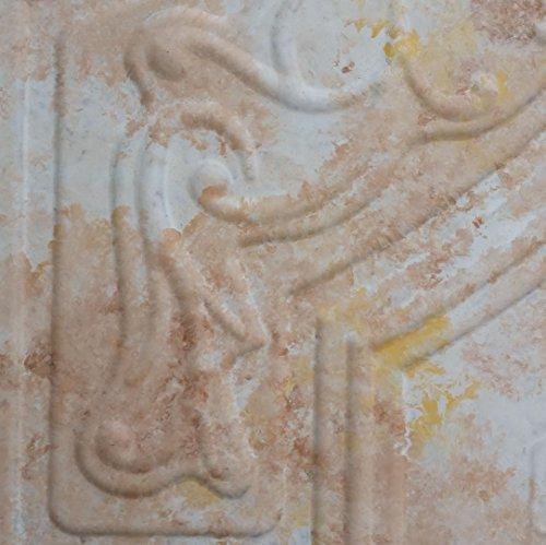 PL02 peint imitation fancy dalles de plafond Blanc brun vieilli art Decoration Fond pour photographie 10pieces Panneaux muraux/lot