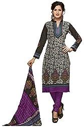 Komal art Ethnicwear Women's Dress Material(Komal art_Preyanshi5109_Black_Free Size)