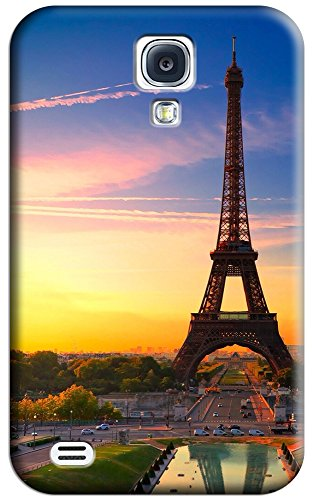 Sangu Eiffel Tower And Sunset Hard Back Shell Case / Cover For Galaxy S4