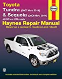img - for Toyota Tundra (2007 thru 2014) & Sequoia (2008 thru 2014): All 2WD and 4WD models (Haynes Repair Manual) book / textbook / text book