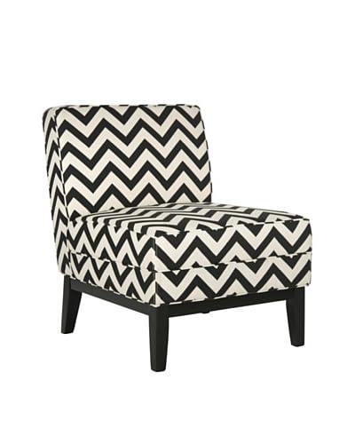 Safavieh Armond Chair, Black/White Zig Zag