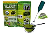 Matcha Green Tea Powder FREE Electronic Whisk - 100% Organic Ceremonial Grade - Lose Weight - Sugar Free - Lattes & Smoothies - 4oz