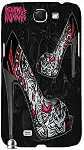 Stunning 3D multicolor printed protective REBEL mobile back cover for Samsung Note-2 - D.No-DEZ-2769-n2