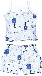 Amy Baby Girls' Dress (K40_3_0-3 Months, Blue, 0-3 Months) - Special Offer with Free Delivery - 100% Cotton Exclusive Kidswear