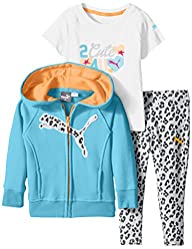 PUMA Baby-Girls Twofer Set Zip Hoodie…
