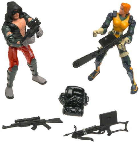 "GI Joe Vs. Cobra Agent Scarlett vs. Zartan 2-Pack 3.75"" Action Figures - 1"