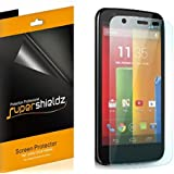 [6-Pack] SUPERSHIELDZ- High Definition Clear Screen Protector For Motorola Moto G + Lifetime Replacements Warranty [6-PACK] - Retail Packaging