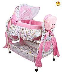Baybee Hive Baby Cradle (Pink)