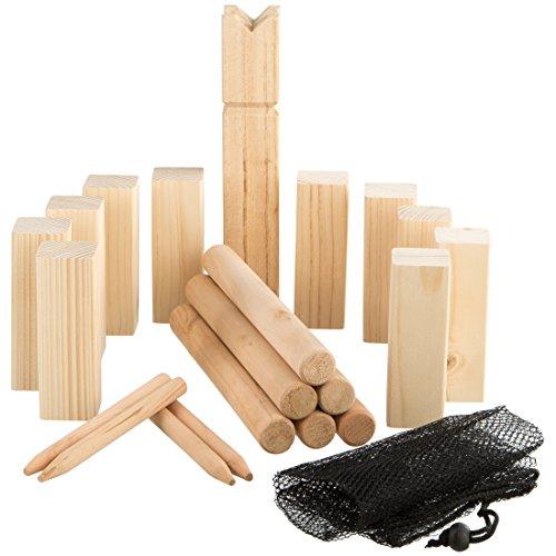 Ultrakidz - Juego vikingo de madera de pino maciza, 21 piezas