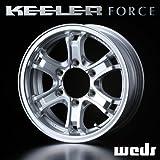 KEELER キーラー フォース FORCE アルミホイール(1本) 15x7.0 +5 139.7 6穴 シルバー 15インチ