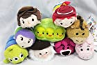 Disney Store Toy Story Tsum Tsum Complete Set of 9 Mini 3.5 - Buzz, Woody, Jessie, Bullseye, Hamm, Alien, Peas, Bear, Stinky Pete