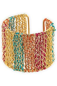 World Finds Fair Trade Multi Ombre Threaded Chain Cuff