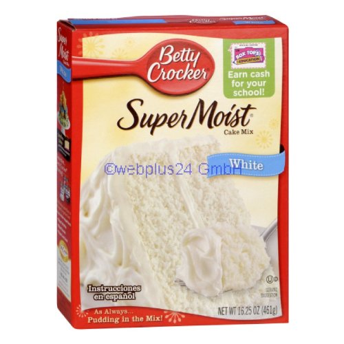 Betty Crocker Super Moist Cake Mix - White (461g)