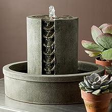 Garden Terrace Cast Stone Coin Fountain