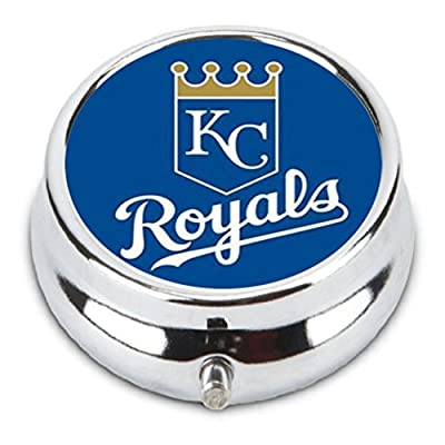 Kansas City Royals Custom Fashion Pill Box Medicine Tablet Holder Organizer Case for Pocket or Purse