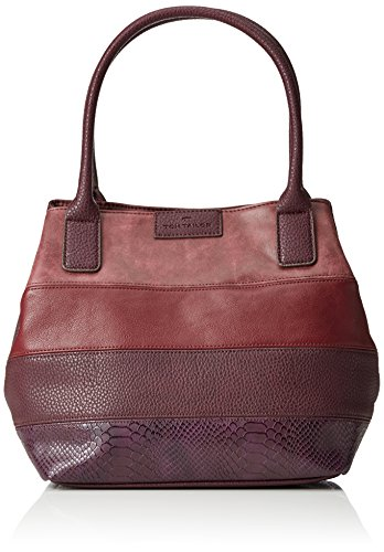 Tom Tailor AccMiri Mix - Borsa shopper Donna , Rosso (Rot (wine 48)), 43x28x17 cm (B x H x T)