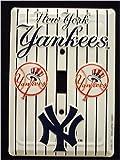 New York Yankees MBL Aluminum Novelty Single Light Switch Cover Plate