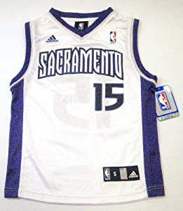 DeMarcus Cousins Sacramento Kings #15 NBA Youth Jersey White With Purple by adidas
