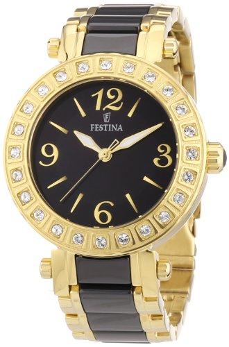 Festina F16644/2 - Reloj analógico de cuarzo para mujer, correa de diversos materiales multicolor (agujas luminiscentes)