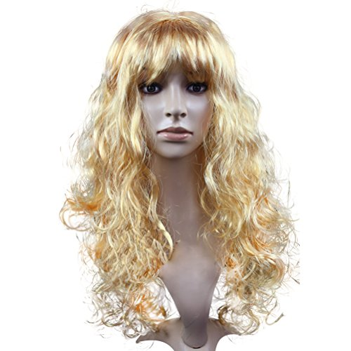 Cosplay Costume Party Long Big Wave Curly Hair Wig Periwig, Blond