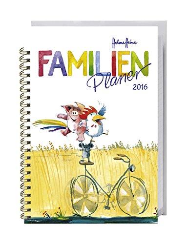 Helme Heine Familienplaner Buch A6 - Heye-Kalender 2016 - Familienkalender für 4 Personen - Schulferien und Stundenplänen - 11,6 cm x 16,3 cm