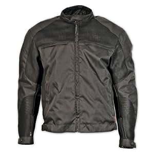 Milwaukee Motorcycle Clothing Company Mesh Scooter Jacket (Black, XX-Large)