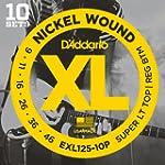 D'Addario EXL125-10P Nickel Wound Ele...