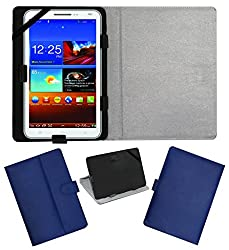Acm Leather Flip Flap Carry Case For Byond P3 Tablet Holder Stand Cover Blue