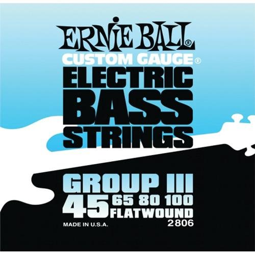 Ernie Ball 2806 Flatwound Custom Gauge Semi-Flexible