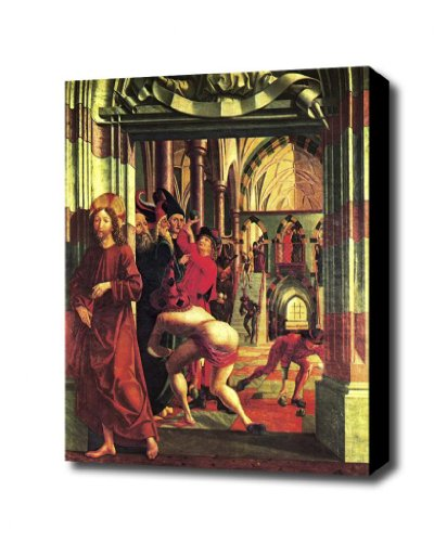 christ оранжевый tula крист Stoning of Christ by Pascher Canvas art print 1.5 inch Deep Frame
