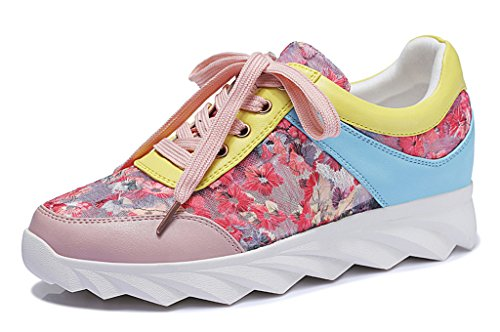 Guciheaven Stylish Women's Patent PU Gauze Patchwork Sneakers