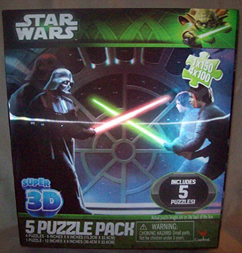 STAR WARS 5 Puzzle Pack, Super 3D by Cardinal