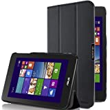 i-Blason Asus VivoTab Note 8 Case - i-Folio Slim Hard Shell Stand Case Cover [Life Time Warranty] (Black)