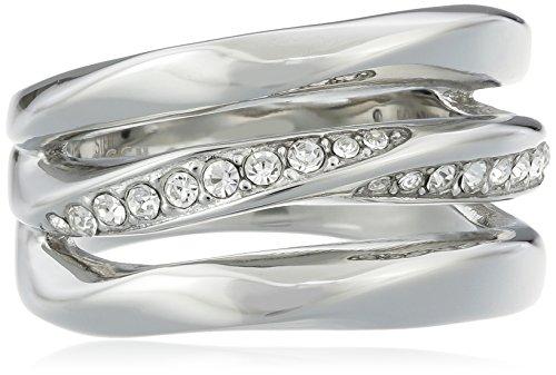 Fossil Damen-Ring Edelstahl Turmaline weiß JF01147