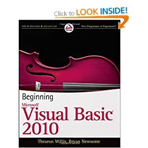 Beginning Visual Basic 2010 (Wrox Programmer to Programmer)