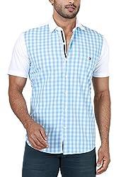 Botticelli Plain Shirts for men-Blue