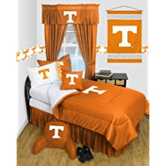 Tennessee Volunteers QUEEN Size 12 Pc Bedding Set - Locker Room - (Comforter, 2... by Sports Coverage