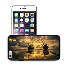 buy Luxlady Premium Apple Iphone 6 Plus Iphone 6S Plus Aluminum Backplate Bumper Snap Case Image Id 31628228 Fishing Sea Boat And Sunrise Clouds Before Strom In Thailand Gold Light Tone Vintage