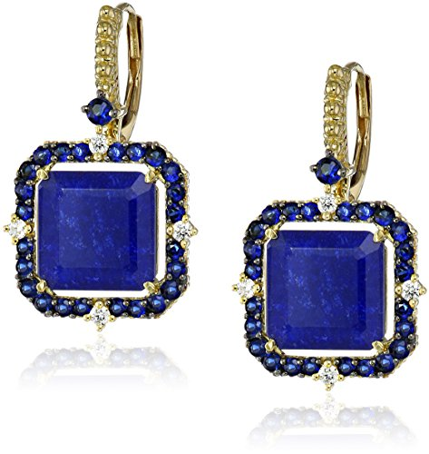 Judith-Ripka-Lila-18k-Gold-Lapis-Doublet-Asscher-Cut-Drop-Earrings-110cttw-G-H-Color-SI1-Clarity