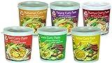 Cock Brand - Probierset Currypasten 6er Pack (6 x 400g) - 6 Sorten, je 1 Dose