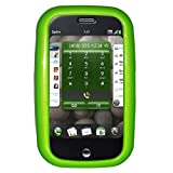 Amzer Polished Neon Green Snap On Crystal Hard Case with Belt Clip for Palm Pre