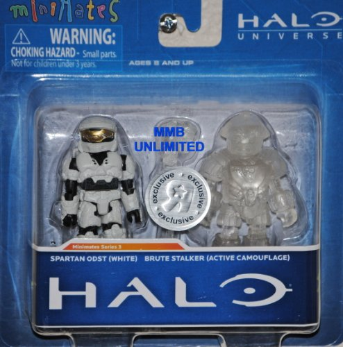 Picture of Diamond Select Halo Minimates Exclusive Series 3 Mini Figure 2Pack Spartan ODST (White) Brute Stalker (Active Camouflage) (B005G1YCZM) (Halo Action Figures)
