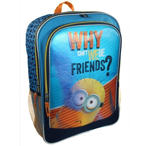 1 X Despicable Me 2 Minion 3D Why Can't We Be Friends? Backpack - 1